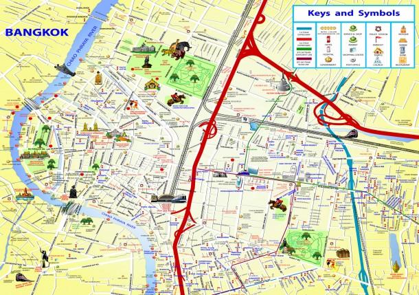 Карта центра Бангкока