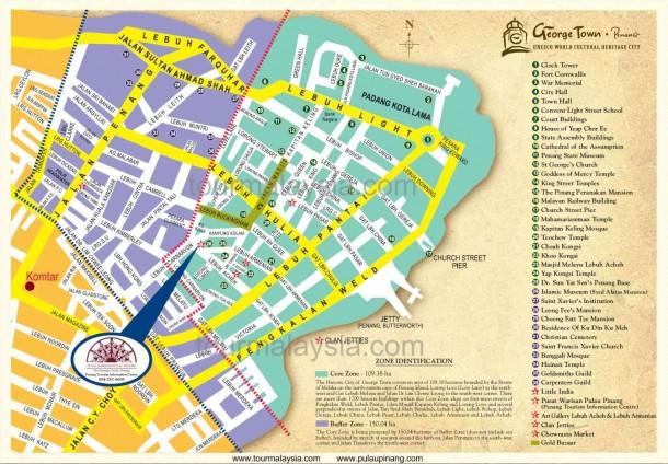 Карта города Джоржтаун