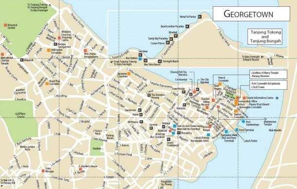 Карта отелей Джоржтауна