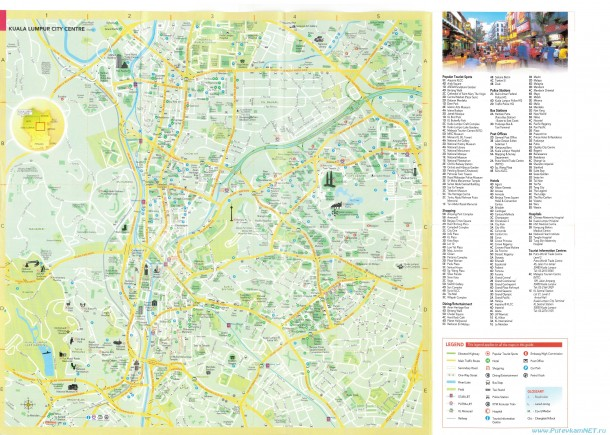 Подробная карта Куала-Лумпура
