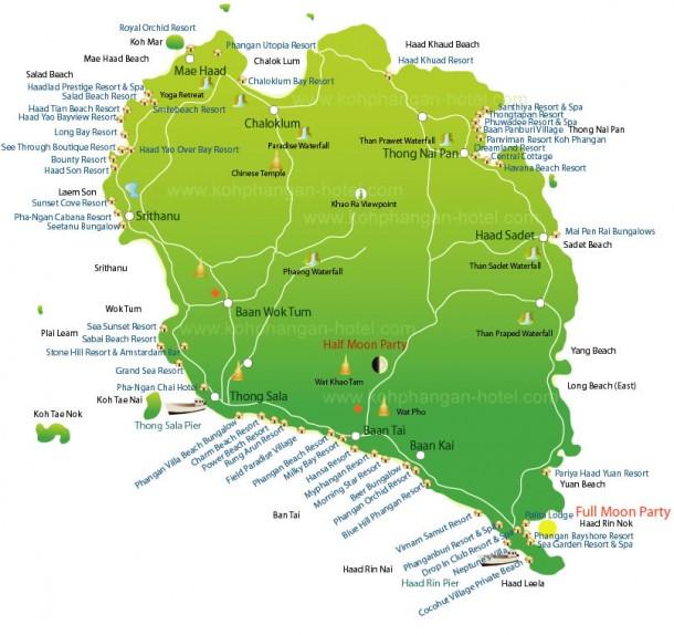 Карта Ко Панган