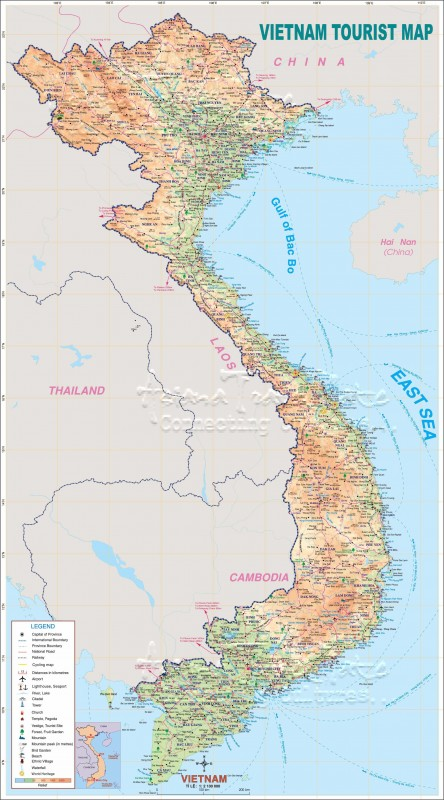 Большая карта Вьетнама