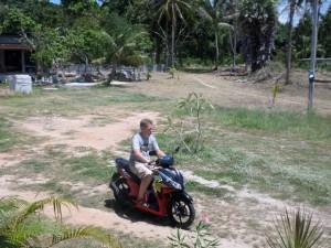 управление байком Honda Click