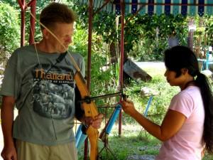 инструктаж по стрельбе из лука на Ко Панган