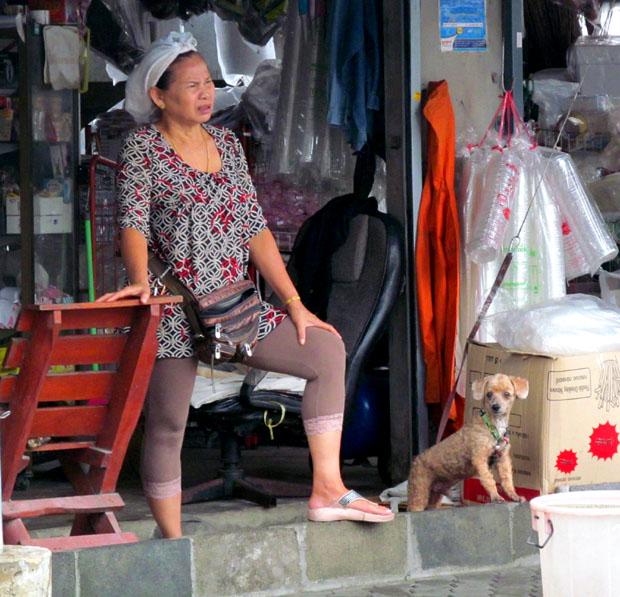 тайка с собакой