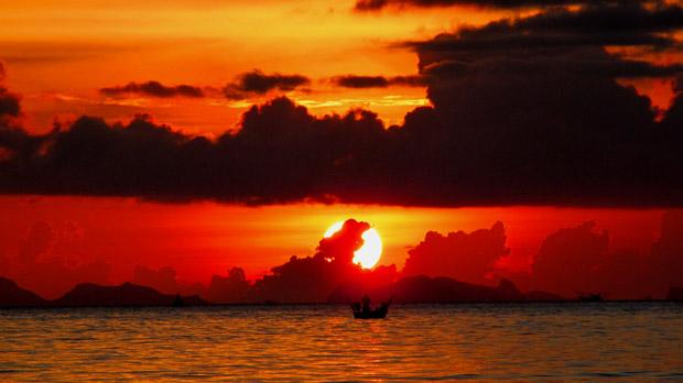 закат на острове Панган