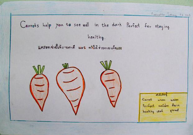 рисунок тайских школьников
