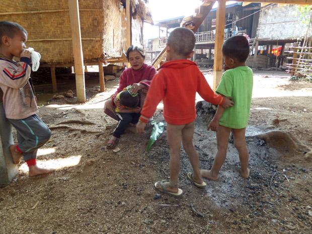 деревня Лаоса