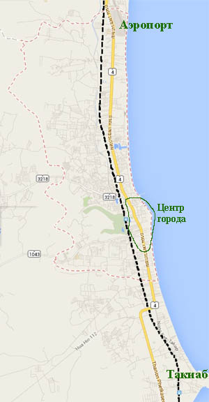 карта города Хуа Хина