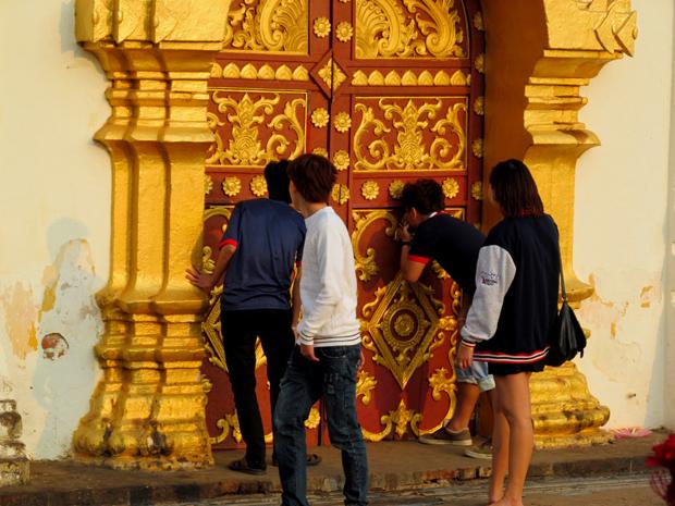 золотая ступа во Вьентьяне