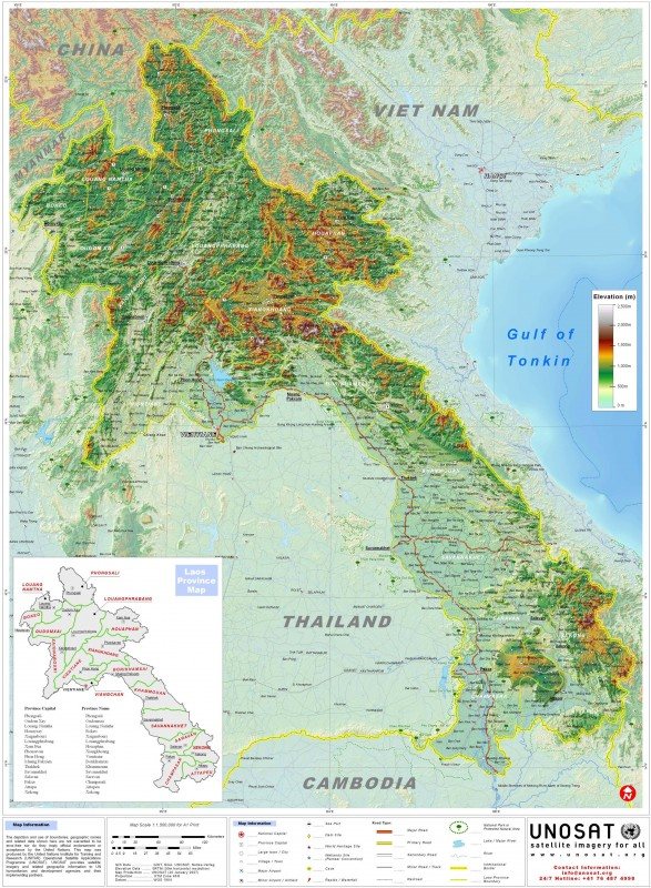 детальная карта Лаоса