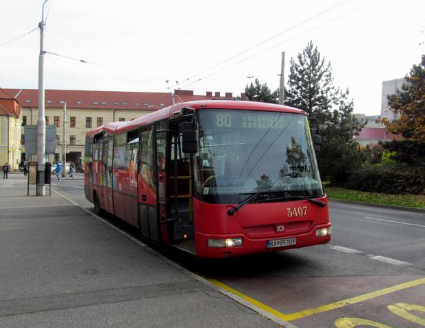 автобус 80 в Братиславе