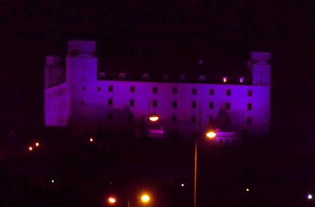 Братиславский град вечером