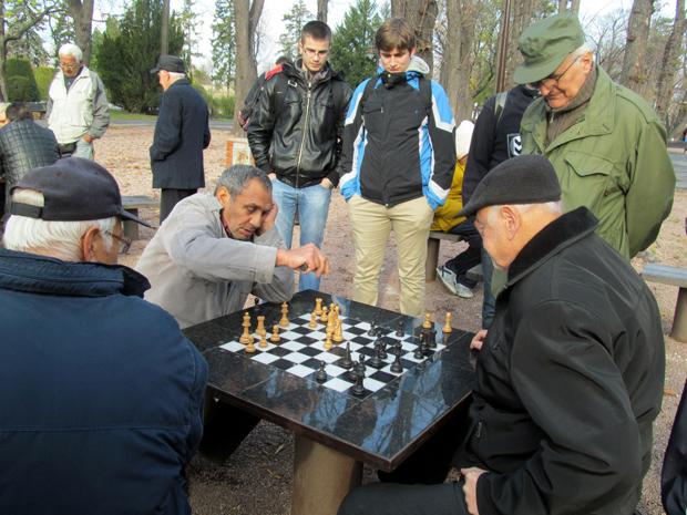 игра в шахматы в парке Калемегдан
