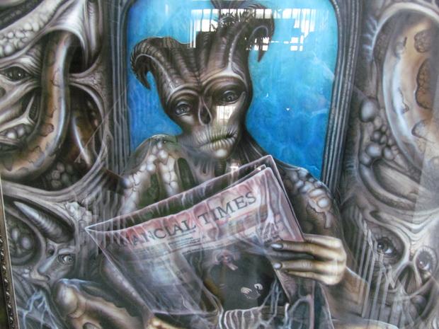 нечисть читает газету