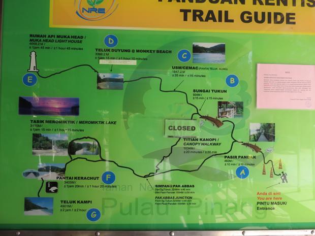 карта нацпарка Пенанг