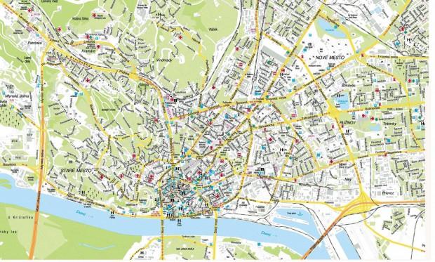 карта братиславы с достопримчательностями