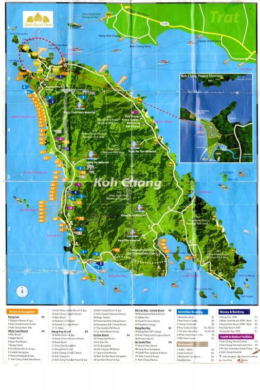подробная карта Ко Чанга