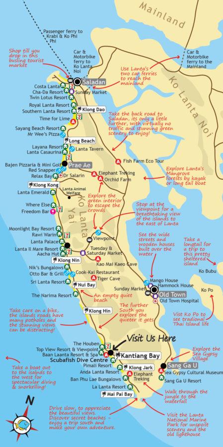 карта острова Ланта