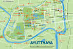 подробная карта Аюттайи