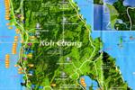 Ко Чанг на карте Таиланда