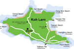 карта острова Ко Лан
