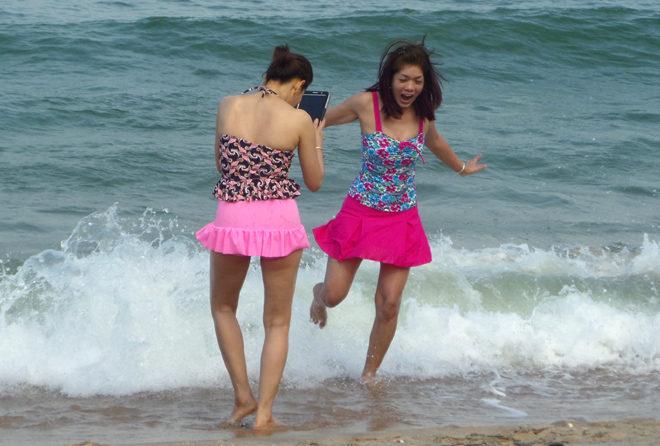 селфи на пляже Сай Ной