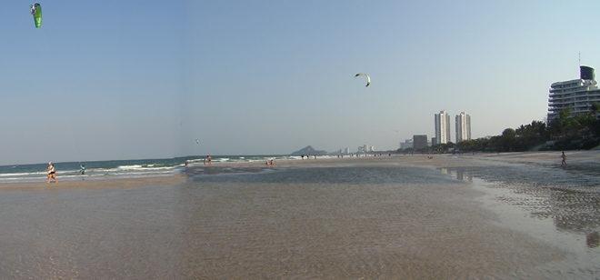 пляж Хуа Хина во время отлива