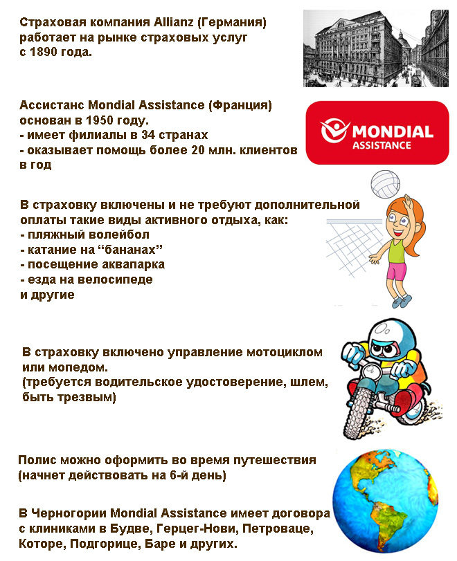 особенности страховки Allianz для Черногории