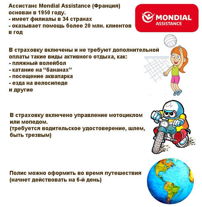 плюсы страховок с ассистансом Mondial