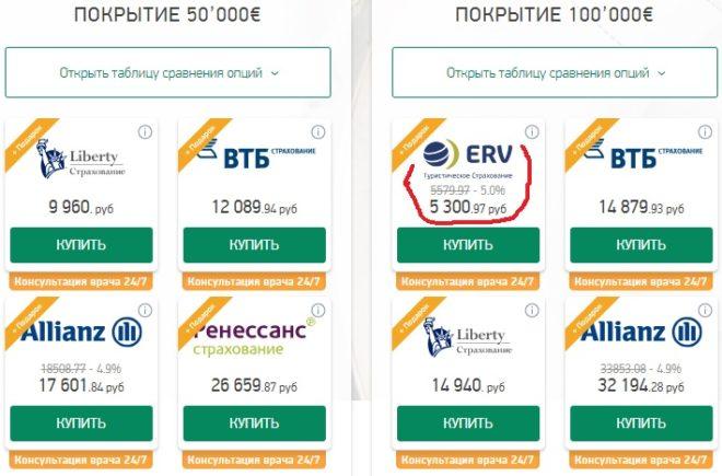 годовая страховка ERV на Instore.travel