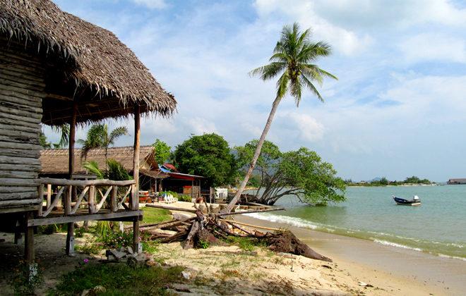 берег моря на Пангане