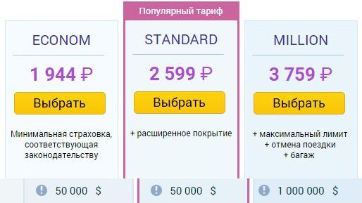 цены Tripinsurance для Таиланда