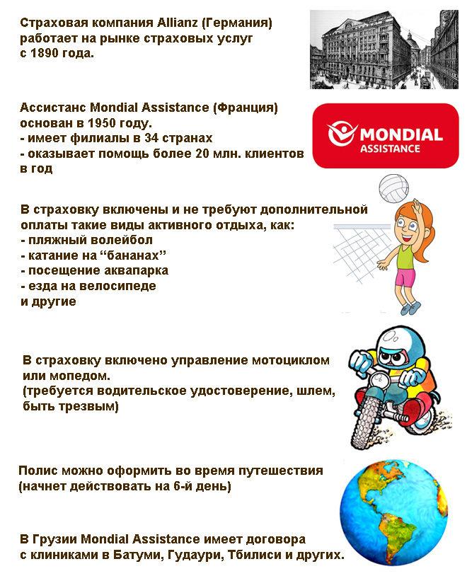 страховка Allianz для Грузии