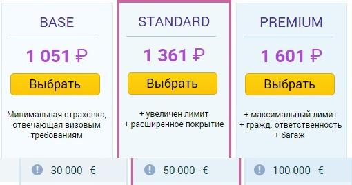 цены полисов Allianz для Болгарии