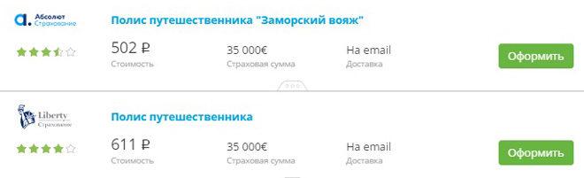 недорогие полисы в Болгарию