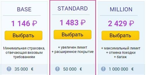 стоимость страховок Tripinsurance для Кипра
