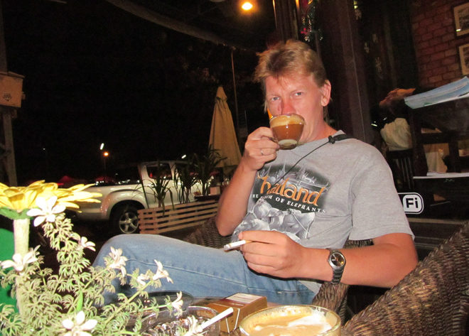 кафе во Вьентьяне