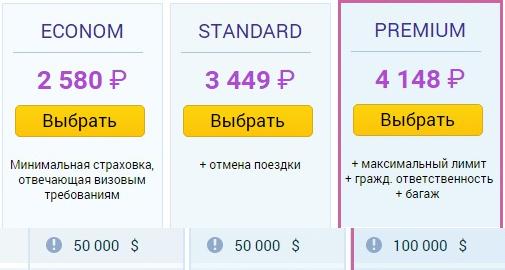цены страховок Allianz в США